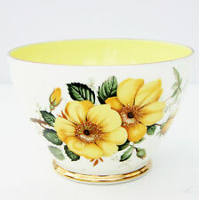 Vintage Antiguo Royal Bone China Azucarera Floral Rosa Amarilla