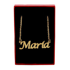 MARIA Name Necklace Stainless Steel / 18ct Gold Plated | Designer Anniversary