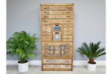 Multi Drawer Chest with Door and chalkboard shabby Chic 148cm tall retro