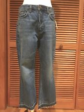 FREE PEOPLE Stone Blue high waist released hem jeans size 30 NWT