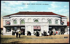 GRAND JUNCTION Colorado ~ 1900's UNION DEPOT ~ RAILROAD STATION