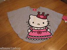 Girls Hello Kitty t shirt  6X HK5204286 HGR Heather Gray HK Circle Top NWT ^^