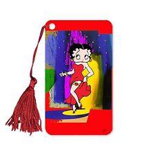 "Lenticular Betty Boop Abstract Colors 2x4"" Bookmark Book Mark Tassel BB-208-BM"