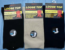 """6 Pairs Unisex Loose Top & Cotton Rich Medical Socks """"Compression Circulation"""""""