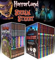 Goosebumps HorrorLandSeries & Scream Street 23 BooksCollection Box Gift Set