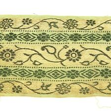 2m (6 foot) LONG Old Antique India SARI Saree TRIM Embroidered Textile 652m7