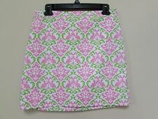 Women's size 4 Kelly's Kids Mommy Skirt Pink & Lime Green Print Paisley Design