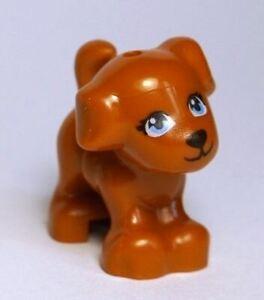 LEGO Friends Baby Puppy Dog Standing Animal Minifigure (Dark Orange)