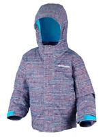 Columbia Buga Ski Jacket Coat Boys Kids Textured Blue AOP Size 10-12 Yrs *REF98