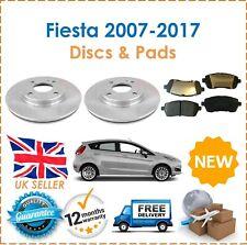 For Ford Fiesta MK7 MK 7.5 07-17 2 Front Brake Discs 258MM & Brake Pads