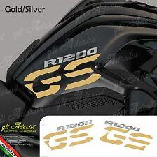 Set Adesivi Fianco Serbatoio Moto BMW R 1200 gs LC Gold-Silver