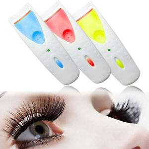 Electric Heated Eyelash Curler Battery Power Beauty Makeup Tool Long Lasting !!*