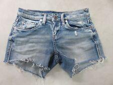 "Blank NYC Women's Fringed Denim Short Size 24 The Essex Style 741-8144 4"" Inseam"