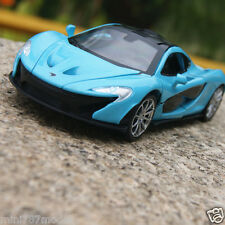 McLaren P1 1:32 Model Cars Sound&Light Alloy Diecast Collection&Gifts Bule Toys