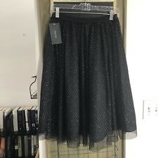 ZARA Basic Lace Skirt With Gold Speckle Small