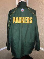 Green Bay Packers Reebok On Field Jacket Coat Adult Size XL