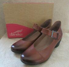 DANSKO Roxanne Burnished Calf Leather Chestnut Shoes US 8.5 - 9 M EUR 39 NWB