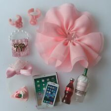 10pcs Clothes Accessories Custom Lot for Lps Skirt Bows Collars Bag Drink