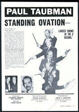 1962 Paul Taubman photo music gig booking vintage print ad
