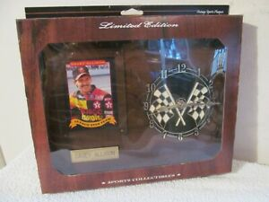 DAVEY ALLISON 1984 LIMITED EDITION SPORTS COLLECTIBLES PLAQUE CLOCK AND CARD NIB