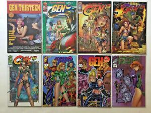 GEN 13 LOT OF 28 COMICS #1-14 ANNUALS BOOTLEG GENERATION X + MORE campbell lee