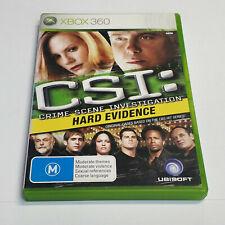 Mint Disc Xbox 360 CSI: Crime Scene Investigation - Hard Evidence Free Postage