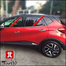 Strisce Cromate sotto finestrini Acciaio Renault Captur raschiavetri Profili