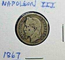 1867 Napoleon III 1 Franc Empire Francais Silver (.835) Weight5 gr