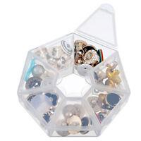 1/2X Plastic 7 Slot Adjustable Jewelry Tool Box Case Organizer Storage Be HO