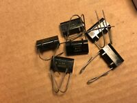 6 NOS Vintage GE .03 uf 400v Black Film Capacitors 1965 Test Great Guaranteed