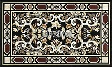 5'x3' Marble Rectangular Side Table Top Scagliola Inlay Dining Room Gift Decor