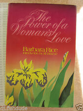 THE POWER OF A WOMAN'S LOVE by Barbara Rice Book Hard Cover DJ  Christian