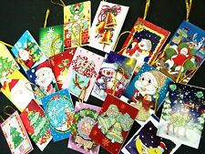Christmas Trees Toppers Greeting Mini Card Gift Tags Craft Scrapbooking 20 pcs
