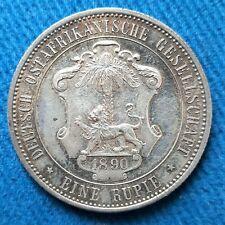 Allemagne. Deutsch Ostafrika. 1 Rupie 1890. Wilhelm II. condition SUP. Patine !