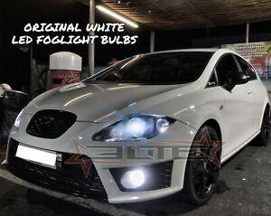 FOR SEAT LEON MK2 BRIGHT ORIGINAL WHITE LED FOG LIGHT BULBS UPGRADE FR CUPRA