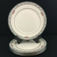 Set of 4 VTG Dinner Plates by Lenox Country Romance American Home Collection USA