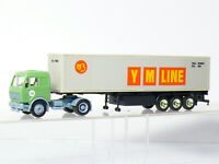 Herpa LKW  MB Mercedes Container Sattelzug   Y M LINE    1:87 / H0