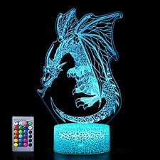 Dragon Hologram Lamp with USB & Batteries Powered, Pretty and Unique Dragon-4