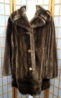 Ladies Priscilla Modes Lykafur Women's Faux Fur Coat Large Size