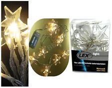 LED Lichterkette Beleuchtung Lichter Warmweiß LED Sternenkette Stern Leuchte Neu