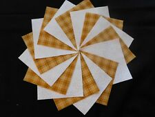 30 4x4 Yellow Quilt Fabric Squares~4059a