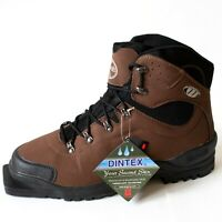 New Whitewoods Brown XC Cross Country Ski Boots Brown Eric Euro Size 48 75mm