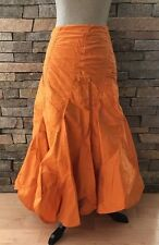 EUC Areli Collection - 100% Silk Flamenco Style Skirt - Orange - Size 14