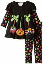 BONNIE JEAN Baby Halloween Ornament Dot Holiday Outfit Legging Set Size 3-6M NWT