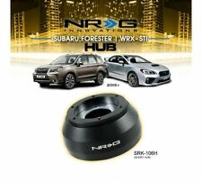 NRG 6 HOLE STEERING WHEEL SHORT HUB for 2015+ WRX STi & FORESTER / 2010+ LEGACY