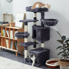 "53"" Cat Tree Tower Activity Center Large Playing House Condo Rest Multi Level"