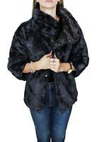 Diamond pelliccia piumino donna invernale nero pellicciotto giacca elegante