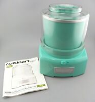 Cuisinart ICE-21 Frozen Yogurt-Ice Cream & Sorbet Maker Teal Mint Rare Color GUC