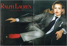 ▬► PUBLICITE ADVERTISING AD Ralph Lauren 2 pages 1992