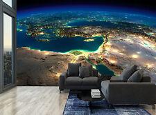 Earth Countries Lights Sea Planet Wall Mural Photo Wallpaper GIANT WALL DECOR